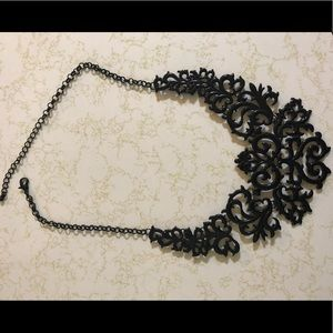Black Ornate Adjustable Length Necklace 🔴